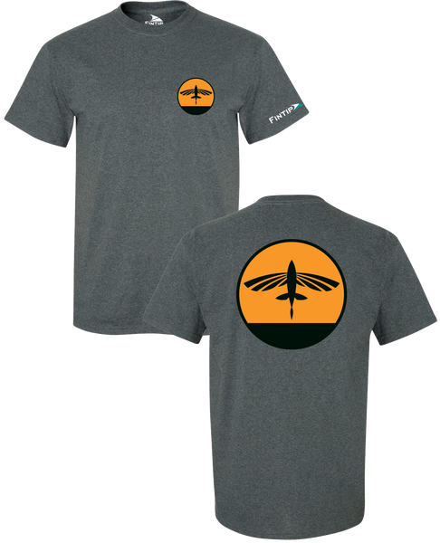 Flying Fish T Shirt - Dark Heather Grey