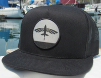 Flying Fish Sunset Hat - Black - On boat fishing