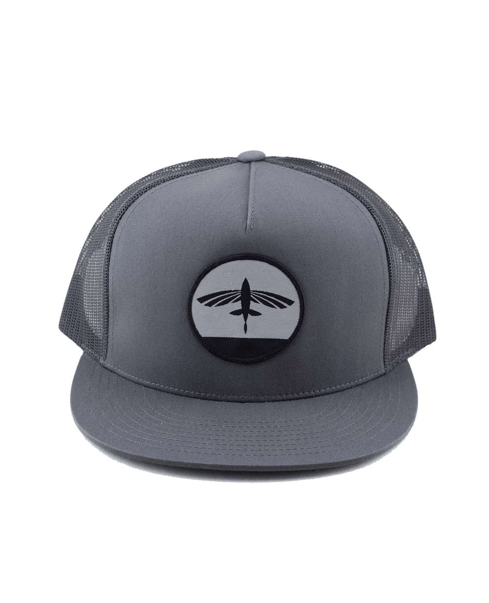 Flying Fish Sunset Hat - Charcoal - Front
