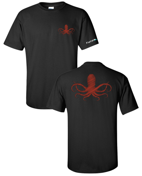 Octopus T Shirt - Black