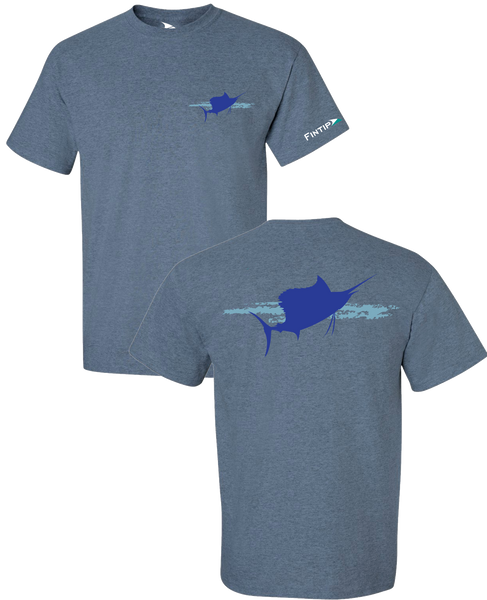 Sailfish T Shirt - Heather Indigo