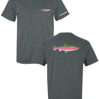 Rainbow Trout T Shirt - Dark Heather Grey