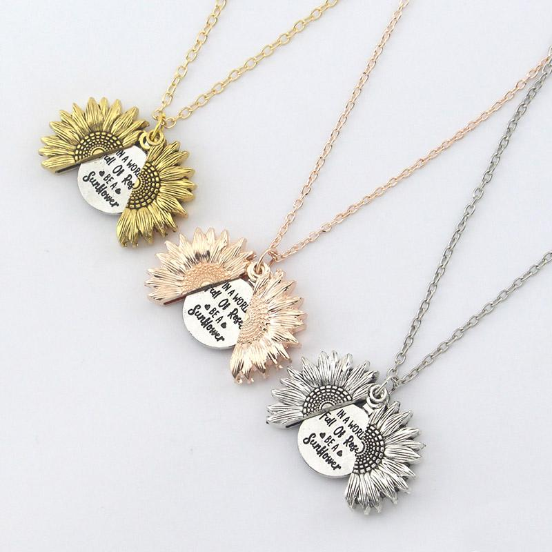 YOU ARE MY SUNSHINE SUNFLOWER NECKLACE