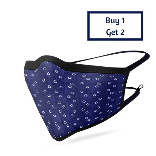 BLUE DOTTED MASK