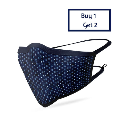 BLUE S-DOTTED MASK