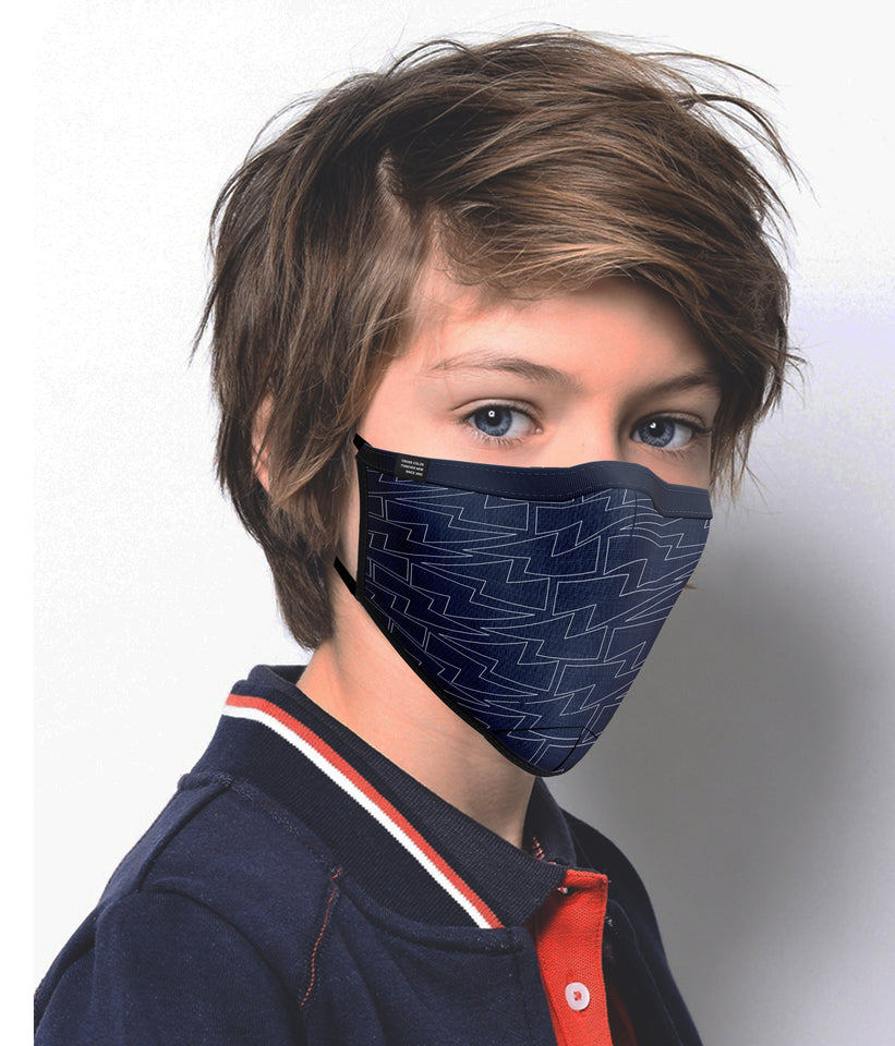 Black Printed Mask For Kid's