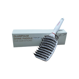 Shine Paddle Brush (White)