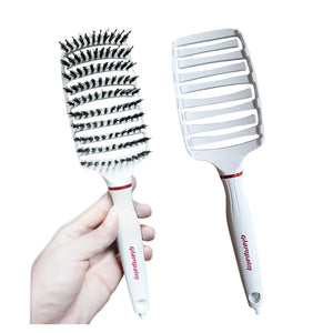 "Glampalm Crescent 1"" (GP202WH) + FREE Shine Paddle Brush (White)"