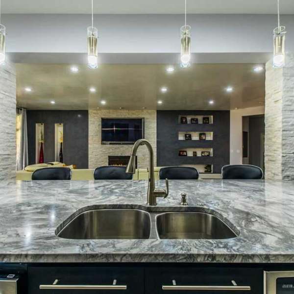 Super White Quartzite Kitchen Countertops