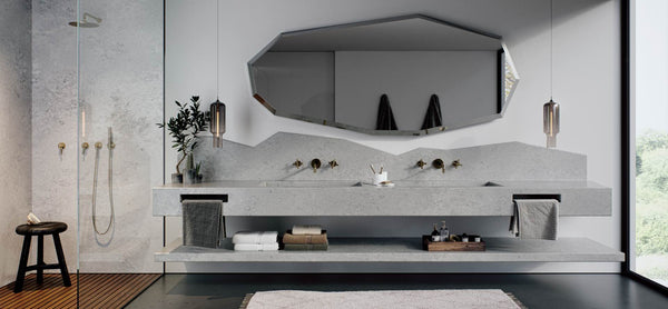 floating vanity tops from airy concrete