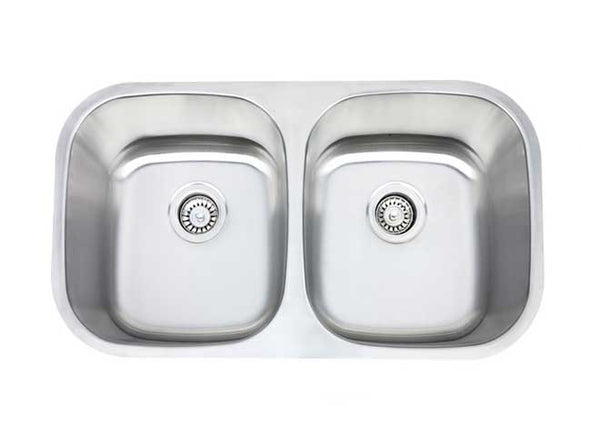 "32"" CLASSIC DOUBLE BOWL UNDERMOUNT KITCHEN SINK"