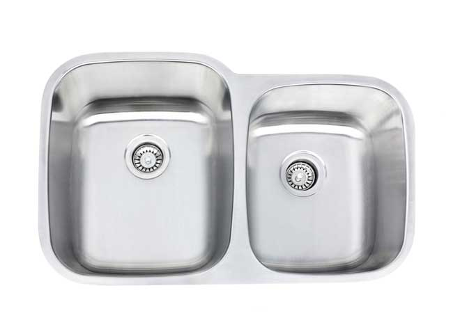 "32"" CLASSIC DOUBLE BOWL 60/40 UNDERMOUNT KITCHEN SINK"