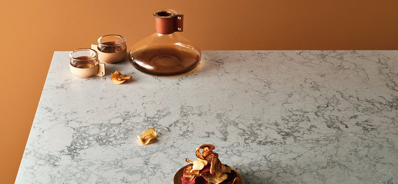 coffee pat over montblanc caesarstone counters