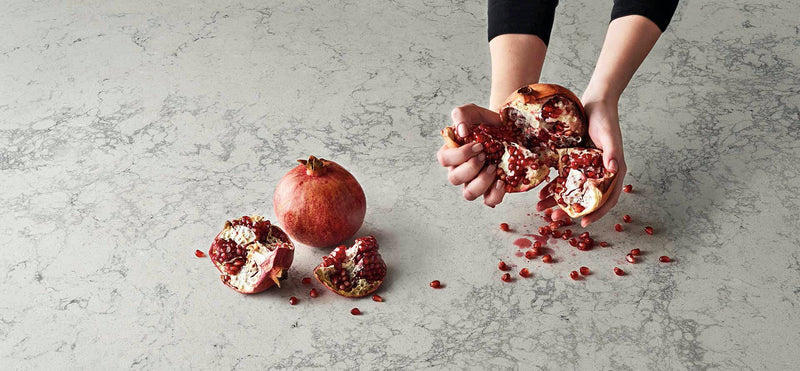 montblanc caesar stone slab with pomegranate