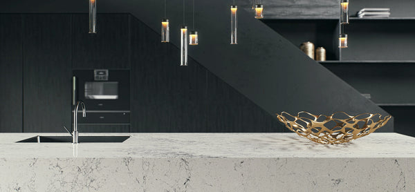waterfall island from montblanc caesarstone slab