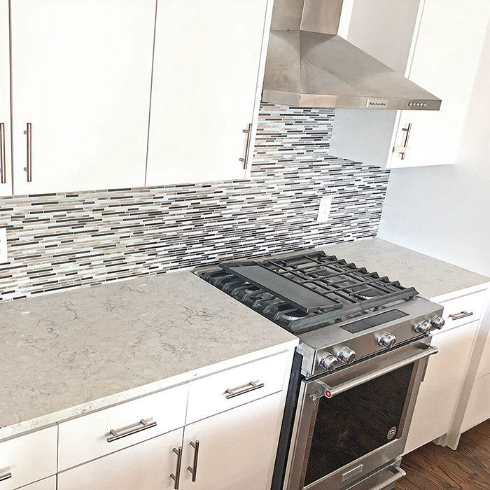 quartz countertops with white cabinets