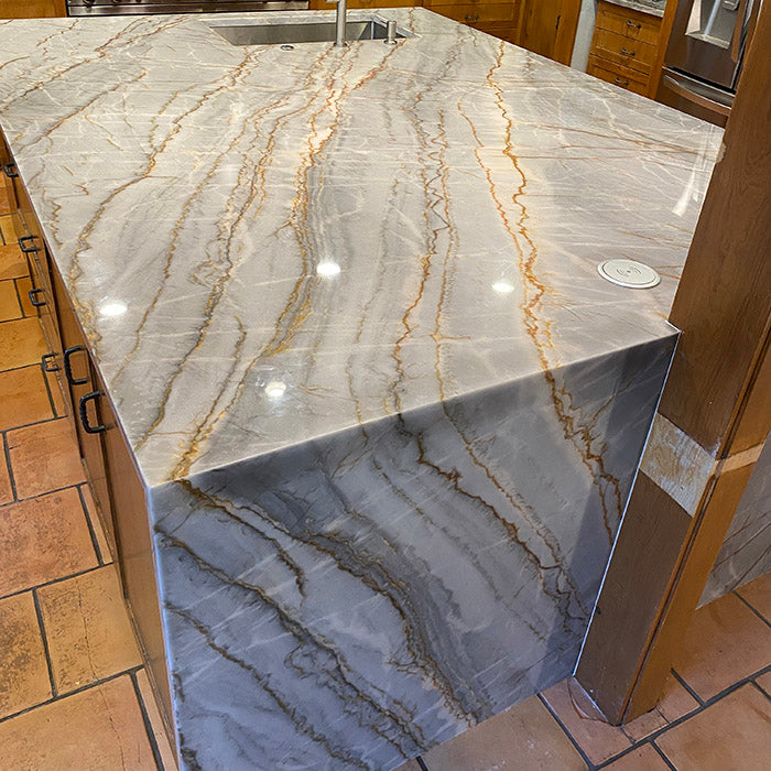 Epsilon Blue Quartzite Kitchen Countertops in Park Cities, TX