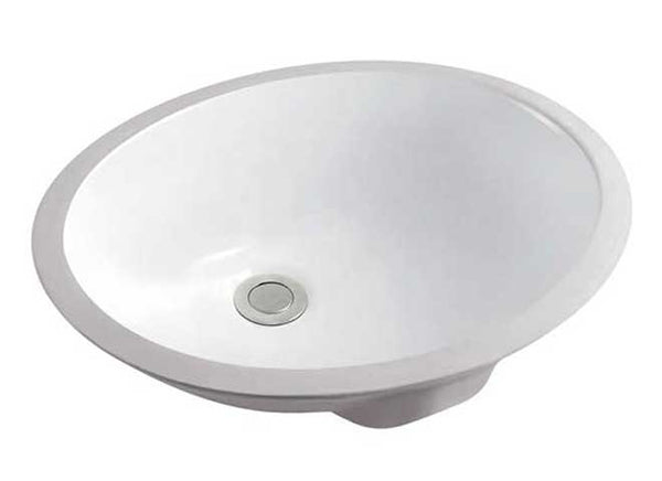 "17.25"" OVAL UNDERMOUNT BATH SINK"