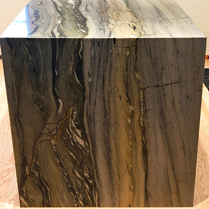 Blue Magma Quartzite with Waterfall Island in Dallas, TX