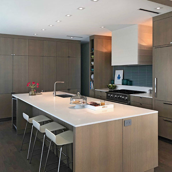 White Zen Kitchen Countertops in Dallas, TX