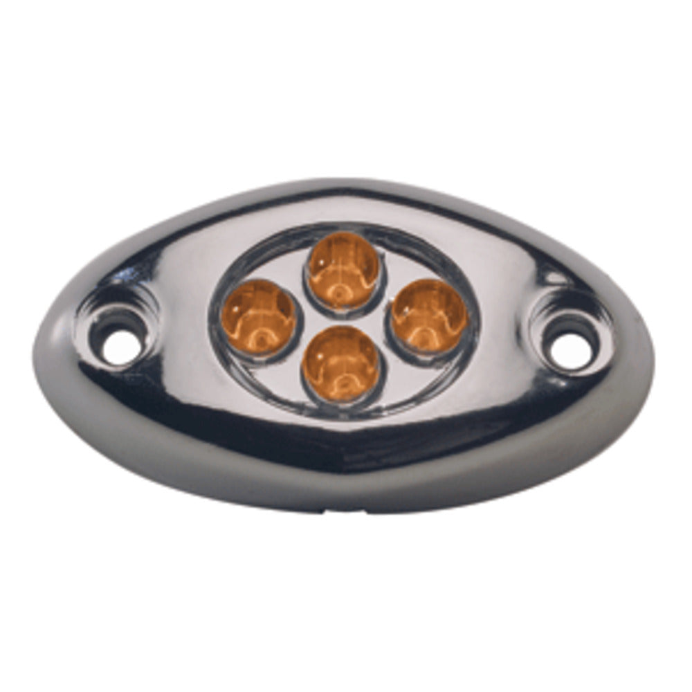 Innovative Lighting Surface Mount Courtesy Light - Amber and Chrome