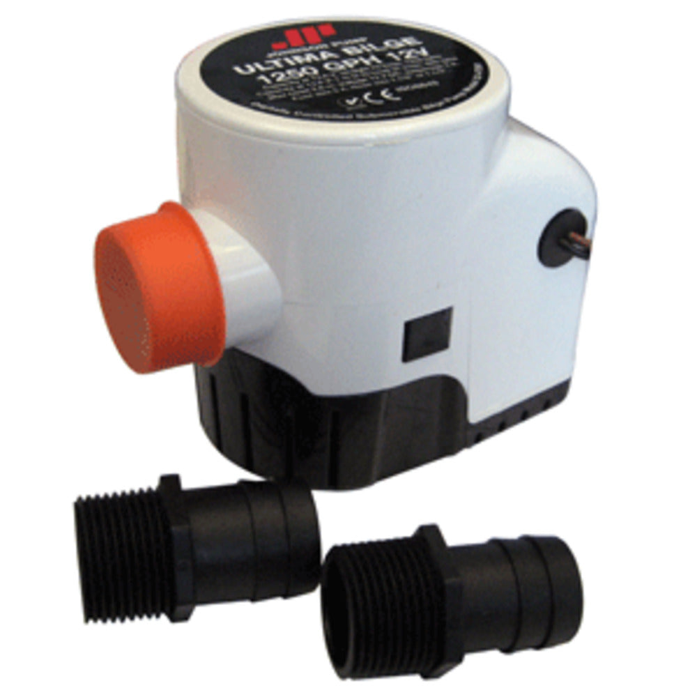 "Johnson Pump Ultima Bilge 1250 GPH 1-1/8"" and 1-1/4"" Hose"
