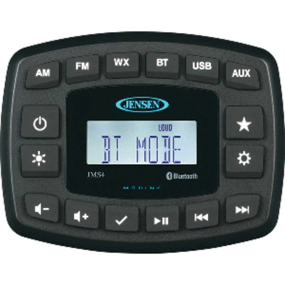 "JENSEN 4"" JMS4RTL Waterproof Bluetooth AM/FM/WB/USB Stereo - Black"