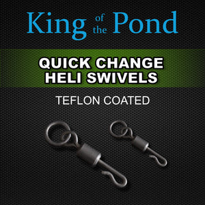 quick change swivels, Ring Swivels, Carp fishing, chod rig, king of the pond
