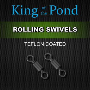 rolling swivels, leadclips, carp fishing, king of the pond, carp rigs