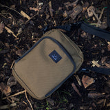 olive tackle bag, carp fishing, essentials bag