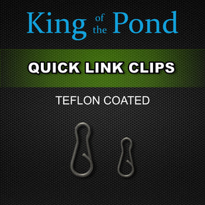 quick change clips, carp rigs, carp fishing, king of the pond, korda tackle, kotp, kwik clips