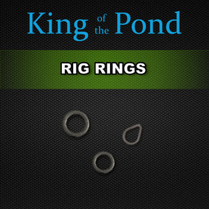 rig rings, round rig rings, teardrop rings, carp rigs, king of the pond, carp fishing