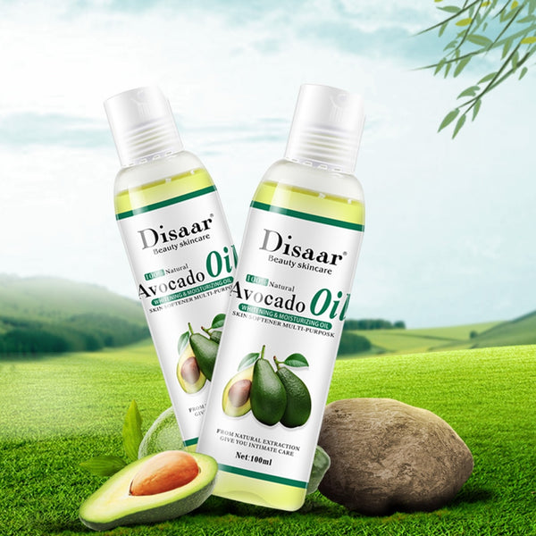 100% Organic Cold Pressed Avocado Oil for Face Relaxation Essential Oil Mixing Massage Body Oil Moisturizer for Skin 100ml