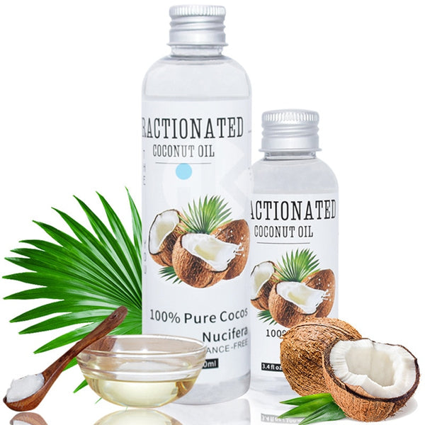 100% Pure Natural Coconut Essential Oil Massage Spa Cold Pressed Moisturiser Skin Care Oil Hair Care Help Sleep Relaxation