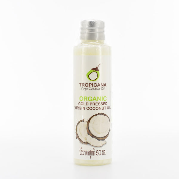 Tropicana 100% Natural Organic Extra Virgin Coconut Oil Thailand Best Cold Press Skin Hair Care massage oil relaxation product