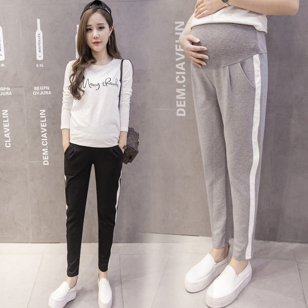 063# 2020 Autumn Spring Maternity Sport Pants Elastic Waist Belly Casual Trousers Clothes for Pregnant Women Pregnancy Pants
