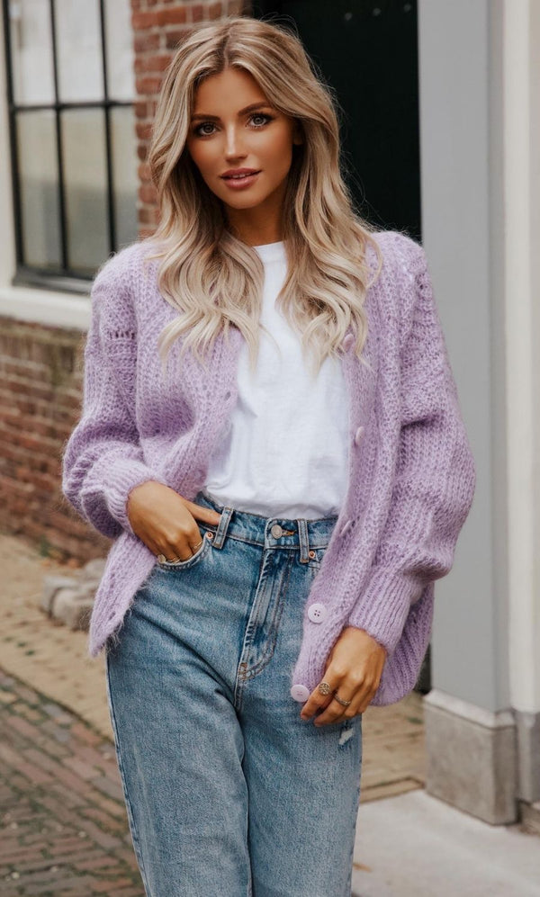 Dianna Cardigan Purple