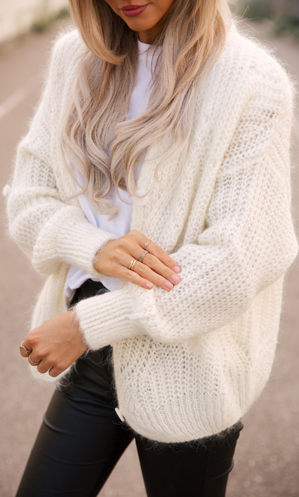 June Cardigan White