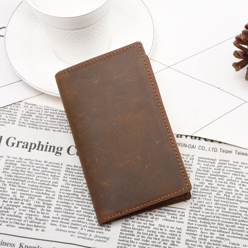 BackBange Thin Design Bi-Fold Classic Leather Wallet