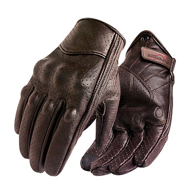 New Motorcycle Gloves Men Touch Screen Leather Electric Bike Glove