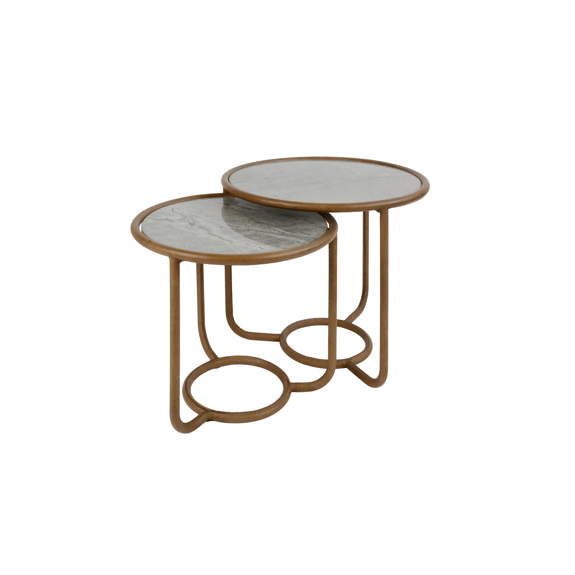 LEATHER SMITH NESTING TABLES