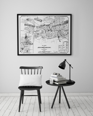 Joburg City Map Poster
