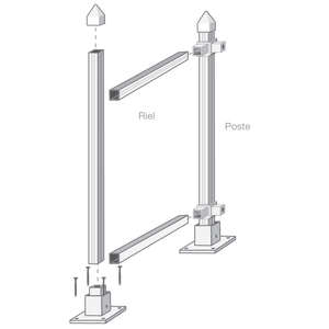 "39"" Post or Rail"