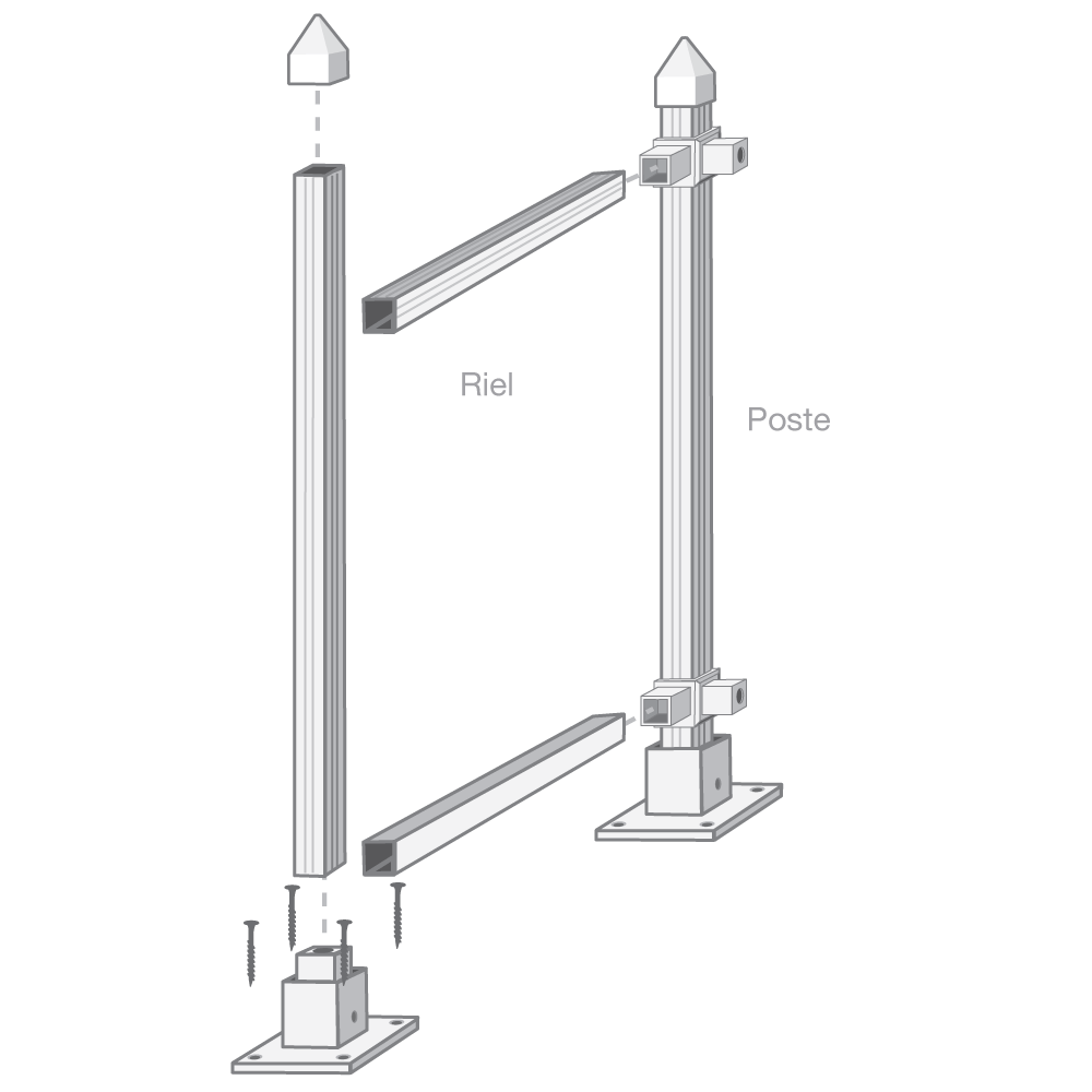 "46"" Post or Rail"