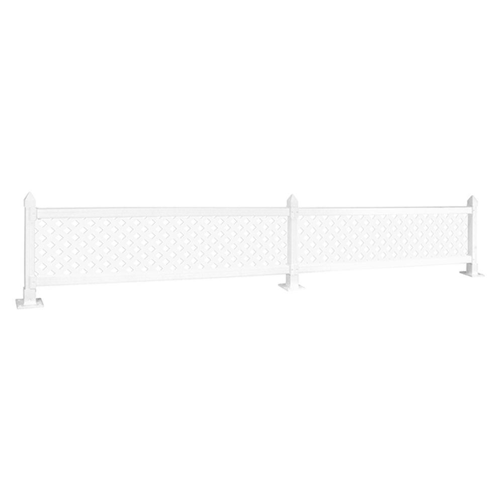 24 X 16 Quot Modular Wall Topper Panels W Lattice Snapfence