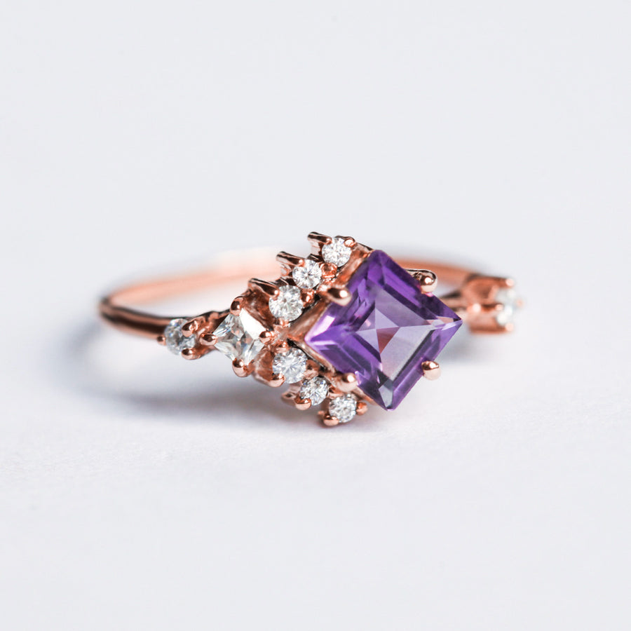 Alice Amethyst Cluster Ring