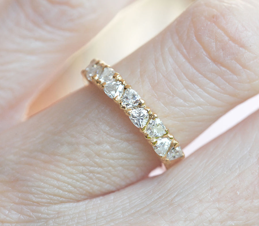 Dora Trillion Moissanite Ring
