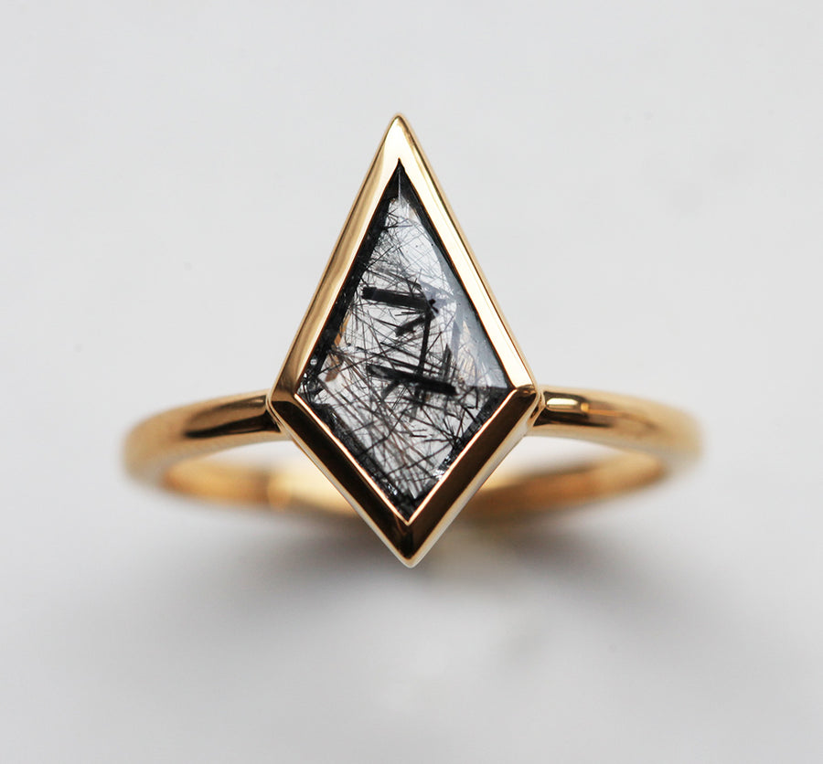 Glenn Black Rutile Quartz Kite Ring