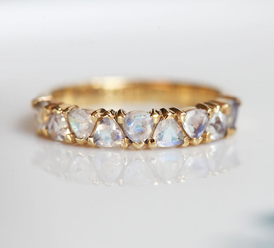 Dora Trillion Moonstone Ring