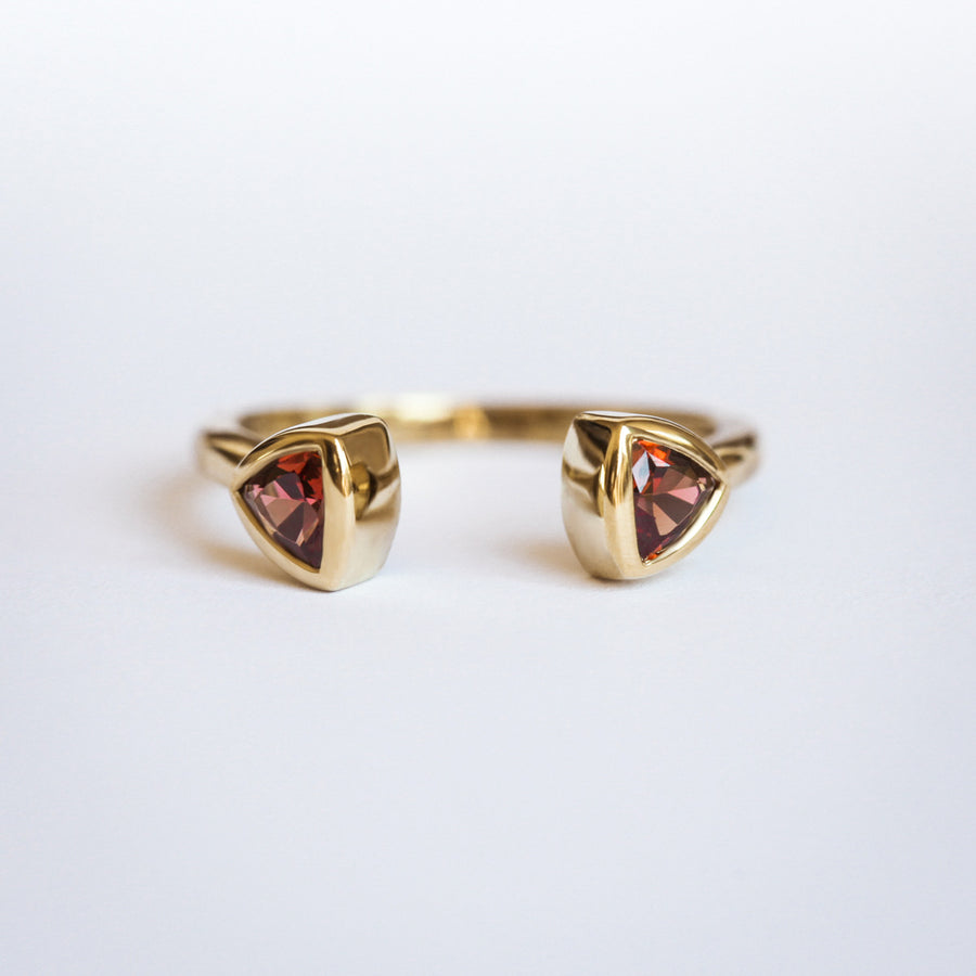 Iris Trillion Garnet Double Band